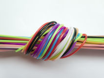 Host of colorful ropes Stock Photography