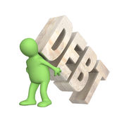 Hostage of the debt. Conceptual image - hostage of the debt Royalty Free Stock Photography