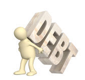 Hostage of the debt Royalty Free Stock Images