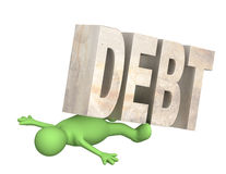 Hostage of the debt Royalty Free Stock Photography
