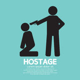 Hostage Graphic Sign Stock Photo