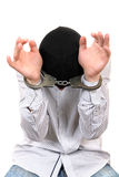 Hostage in Handcuffs Royalty Free Stock Photos