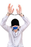 Hostage in Handcuffs Stock Photography