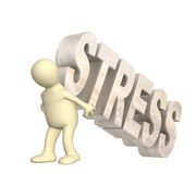 Hostage of the stress Stock Images