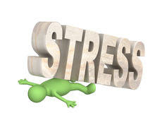 Hostage of the stress Stock Image
