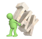 Hostage of the tax Stock Photo