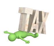 Hostage of the tax Royalty Free Stock Images