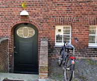 Hostal for pilgrims near St.James church, Lubeck, Germany Stock Photography
