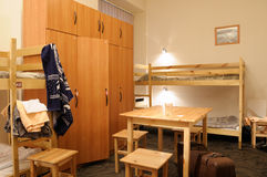 Hostel. Room for time residing of econom class Royalty Free Stock Photo