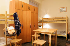 Hostel. Room for time residing of econom class Royalty Free Stock Image