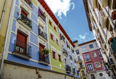 Hostel accommodation and pilgrims in Pamplona Spain Stock Image