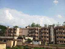 Hostel building view. Hostel apartments in Silchar Assam stock photography