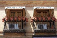 Hostel Balcony Royalty Free Stock Photography