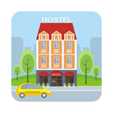 Hostel and big city Stock Photography