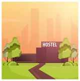 Hostel building. Guest house. Hotel building. Travel. Hostel building. Guest house. Hotel building Travel Stock Images