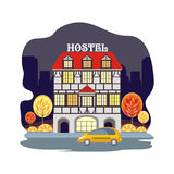 Hostel in a European city Royalty Free Stock Images