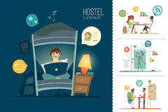 Hostel illustration Royalty Free Stock Photography