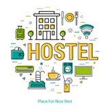 Hostel - Line Concept Stock Image