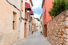 Hostel on a medieval street, Spain Royalty Free Stock Photography
