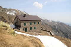 Hostel in the mountains. Hostel in the high mountains (Italian Alps stock images