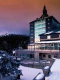 Hostel in Navacerrada. Hostel in Mountain pass Navacerrada,Madrid, Spain Royalty Free Stock Photo