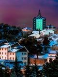 Hostel in Navacerrada. Hostel in Mountain pass Navacerrada,Madrid, Spain Royalty Free Stock Photography