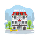 Hostel in an old house Royalty Free Stock Image