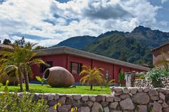 Hostel in Peru. Hotel bungalows at Sol Luna in the Sacred Valley near Cusco Peru Royalty Free Stock Image