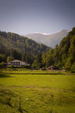 Hostel in the Romanian mountains, Carpathians.  royalty free stock photography