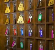 Hostel Room Keys Stock Photos