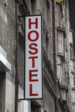 Hostel sign on an old building 2 Royalty Free Stock Photography