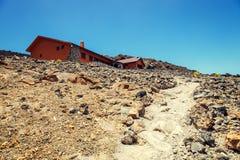 Hostel on the slope of El Teide Volcano, Tenerife Royalty Free Stock Image