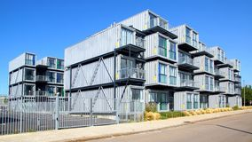 Hostel for students from containers. Stock Image