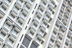 Hostel windows of university Royalty Free Stock Image
