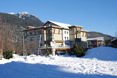 Hosteling International at the Whistler Athletes' Village. The Whistler Athletes' Village in Cheakamus Crossing features 20 townhomes and 30 fully accessible Royalty Free Stock Photography