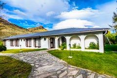 Hosteria Pehoe, parco nazionale di Torres del Paine, Patagonia, Cile Immagine Stock Libera da Diritti
