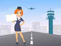 Hostess in airport Stock Photos