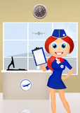 Hostess in airport Royalty Free Stock Images