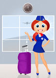 Hostess in airport Stock Photo