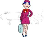 Hostess in uniforme di rosa Fotografia Stock Libera da Diritti