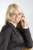 hostessa słuchawki Fotografia Stock