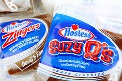 Hostessen-Marken-Produkte Stockbild