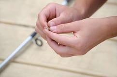 Hostigamiento del gancho de leva Foto de archivo libre de regalías