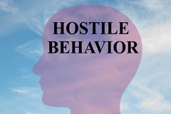 Hostile Behavior - mental concept Royalty Free Stock Images