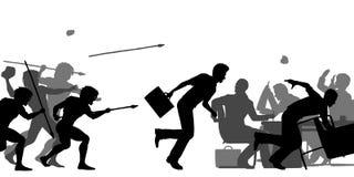 Hostile corporate takeover stock illustration