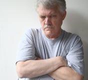 Hostile senior man Stock Images