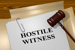 Hostile Witness - legal concept Royalty Free Stock Photo