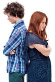 Hostile young couple Royalty Free Stock Images
