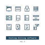 Hosting Billing Software Icons Stock Image