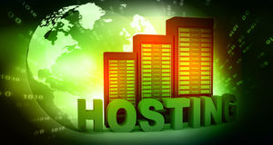 Hosting with computer servers Royalty Free Stock Images